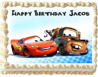CARS MACQUEEN edible cake topper image party