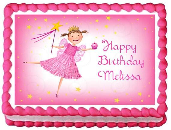 Stupendous Pinkalicious Fairy Edible Cake Topper Party Image Etsy Birthday Cards Printable Benkemecafe Filternl