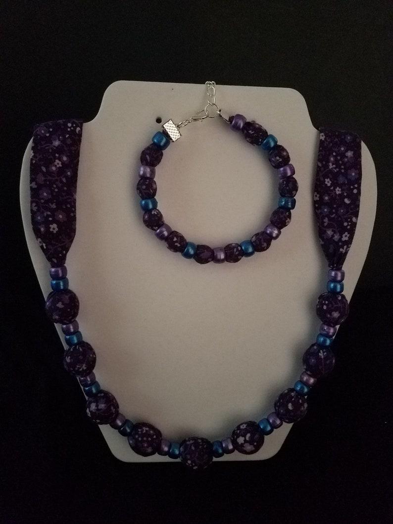 Sets Costume Jewellery Beaded Necklace And Bracelet Set