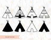 Teepee, tent, tribal, SVG (layered), PNG, DXF, Pdf,Eps for cricut, silhouette studio, vinyl decal, cut file,t shirt design, stencil template