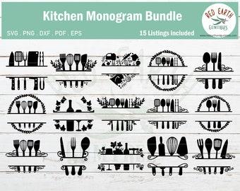 Kitchen Monogram Svg Etsy