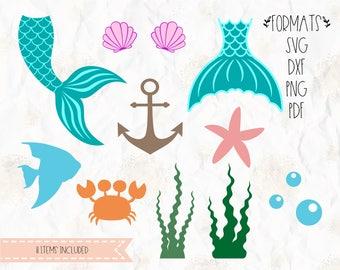 Mermaid Template | Mermaid Tail Svg Etsy