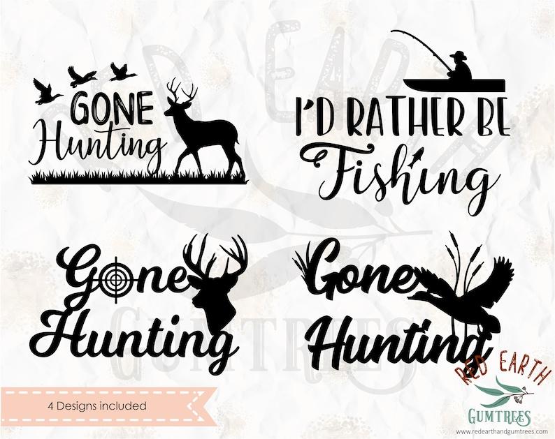 Download Silhouette Studio Cutfile Vinyl Decal T Shirt Design Gone Hunting Bundle Fishing Bundle I D Rather Be Fishing Svg Eps Png Dxf Pdf Cricut Clip Art Art Collectibles Elite1 Pl