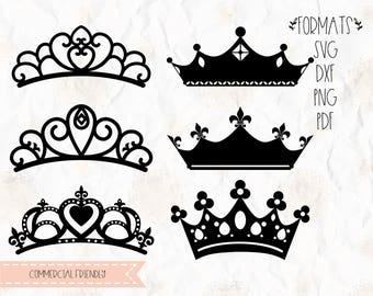 Tiara, Crown, princess, birthday SVG, PNG, DXF format cricut, silhouette studio, vinyl decal, t shirt design, scrapbooking, stencil template