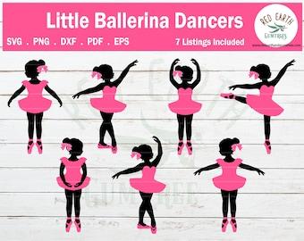 Child ballerina dancers bundle SVG, PNG, DXF, Pdf, Eps  for cricut, silhouette studio,cut file, cutting machine,vinyl decal, t shirt design