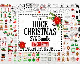 The Huge Christmas bundle svg,gingerbread man svg,santa claus svg, sleigh svg,gnome svg,pdf,eps,dxf for cricut,silhouette cameo,vinyl decal