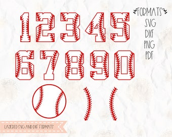 Baseball Stitch, ball, numbers,  svg, png, dxf, pdf for cricut, silhouette studio, cutting machines, vinyl decal, stencil, t shirt design