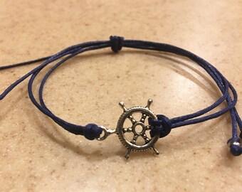 Nautical yarn bracelet
