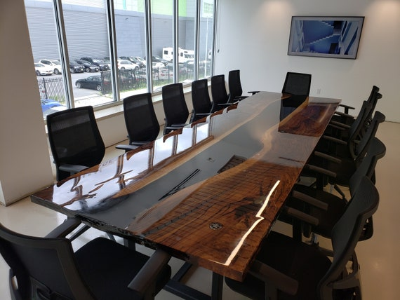 Live Edge Conference Table Epoxy Resin River Table Slab
