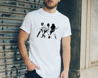 Status Quo Dog of Two Heads image Rock Band Rossi Parfit White t shirt