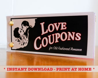 Love Coupons, DIY Coupons, 5th Anniversary Gift, Gift for Him, Valentines Day, Love Coupon Book
