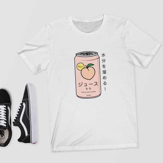 Japanese Peach Soft Drink T Shirt Shirt Top Tee Aesthetic Etsy Tons of awesome japanese aesthetic wallpapers to download for free. etsy