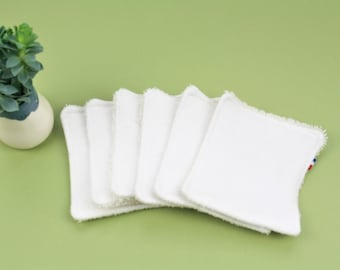 WASHABLE FACE PADS - set of 6 - organic cotton