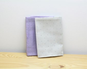 WASHABLE HANDKERCHIEFS  - organic cotton - set of 2