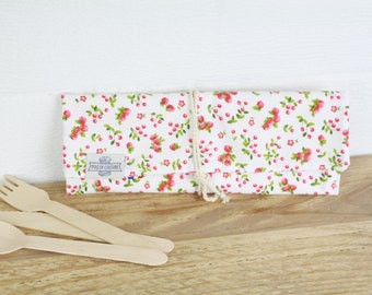 ETUI A COUVERTS in organic cotton