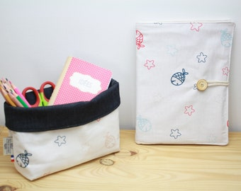 Organic cotton drawing pouch