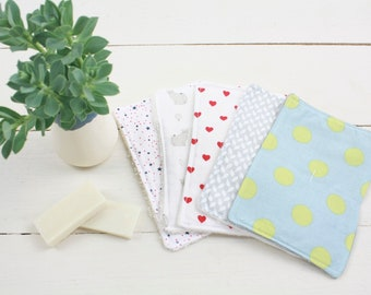TEST KIT - set of 5 washable face pads - organic cotton