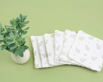 WASHABLE FACE PADS set of 6 - organic cotton