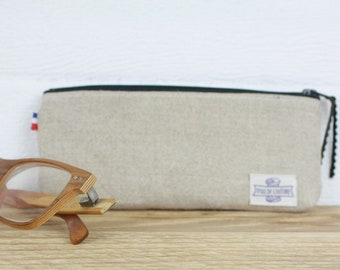 ETUI A LUNETTES in organic linen