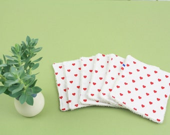 ZERO WASTE- washable face pad set of 6 - organic cotton