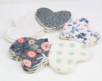 WASHABLE FACE PADS set of 5 - organic cotton