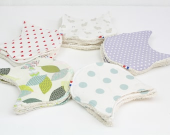 WASHABLE BABY WIPES - organic cotton - made in France
