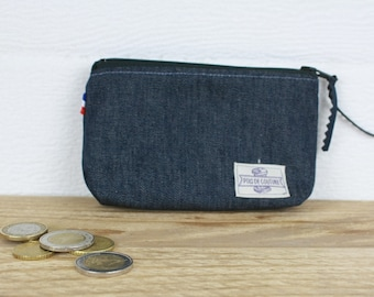 COIN LENME PORTE in organic denim canvas
