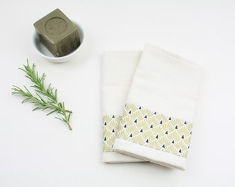 Lot of 2 organic cotton kitchen towels