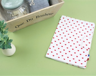 Health Book protector with embroidery-organic cotton