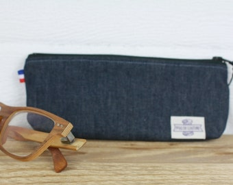 ETUI A LUNETTES in organic cotton