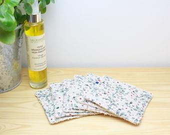 ZERO WASTE - washable face pad set of 6 - organic cotton