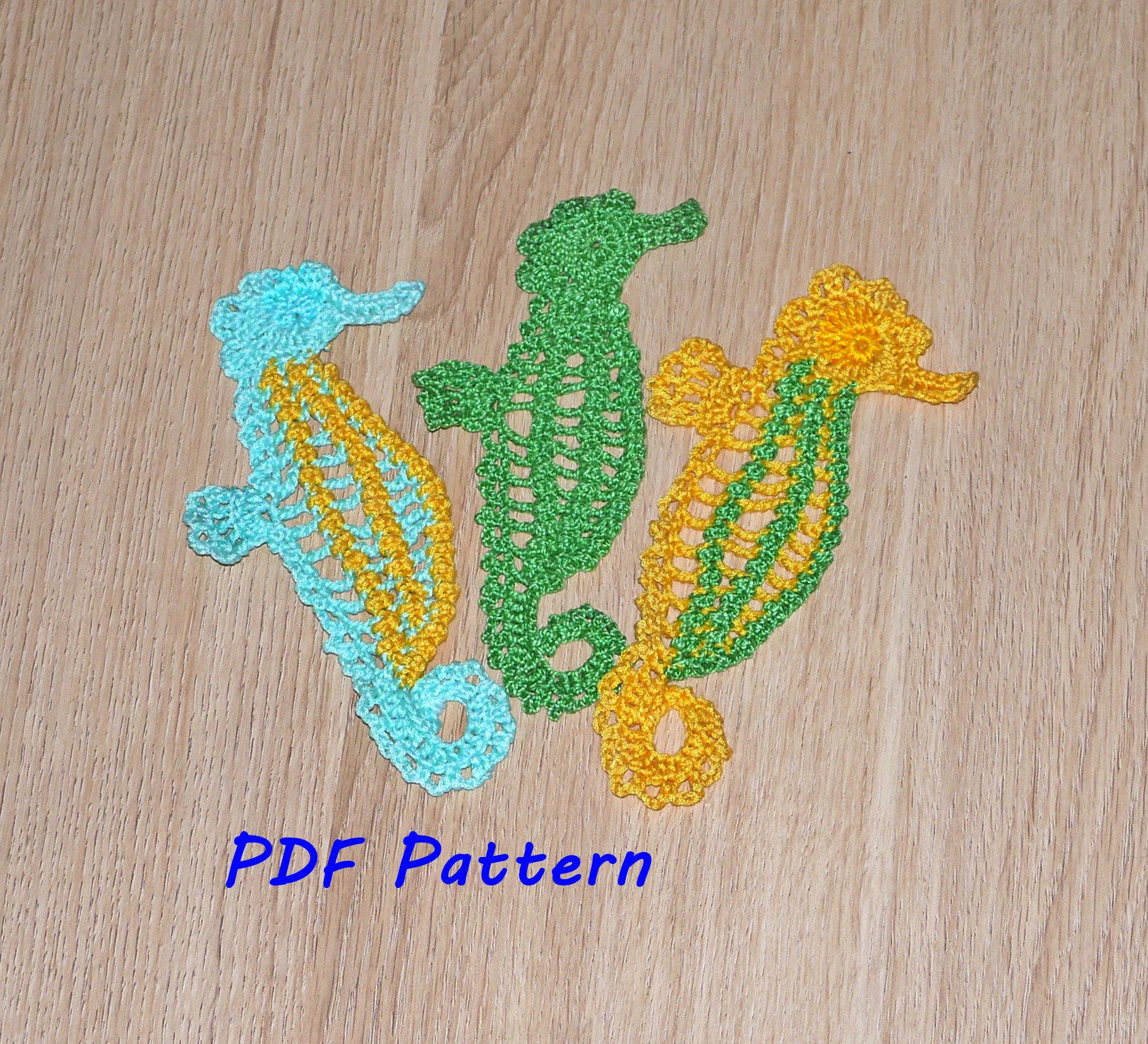 On Sale Seahorse Crochet Pattern Almost Free Crochet Animal Etsy