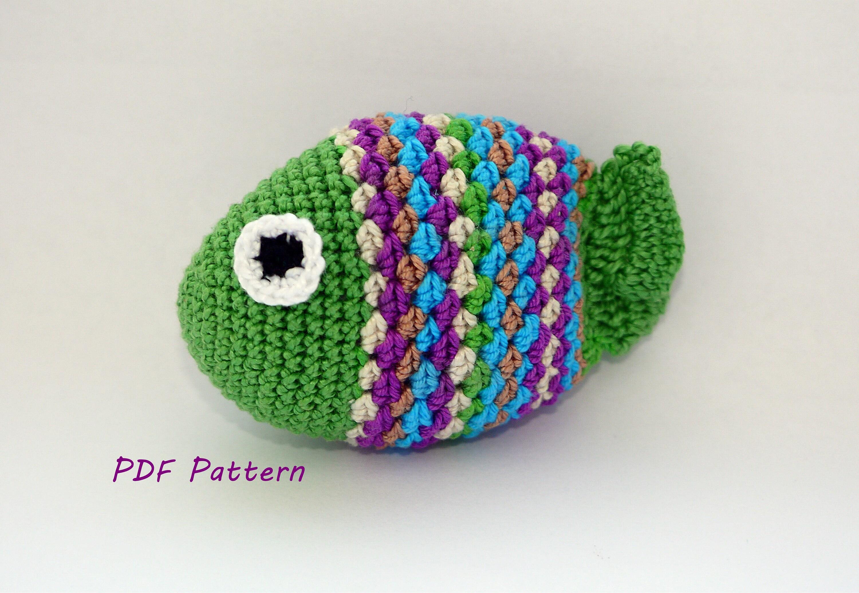 Crochet Fish Pattern Crochet Stuff Animal Pattern Nautical Etsy
