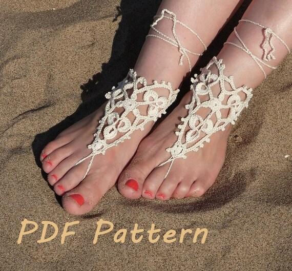 Crochet Barefoot Sandals Pattern Bridal Barefoot Sandals Etsy Beauteous Barefoot Sandals Pattern