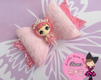 Pink doll bow