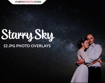 52 Starry Sky Photoshop Overlays, Starry night wedding, Star overlay, Digital stars, Night sky overlays, Starry overlay, Christmas overlays