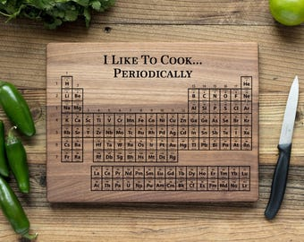Periodic table cutting board etsy personalized cutting board engraved chopping boardanniversary gift housewarming wedding gift christmas periodic table urtaz Image collections