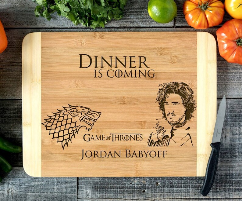Personalized Cutting Board Engraved Chopping Board~Anniversary Wedding Gift Housewarming Engagement Christmas- Game of Thrones HDS