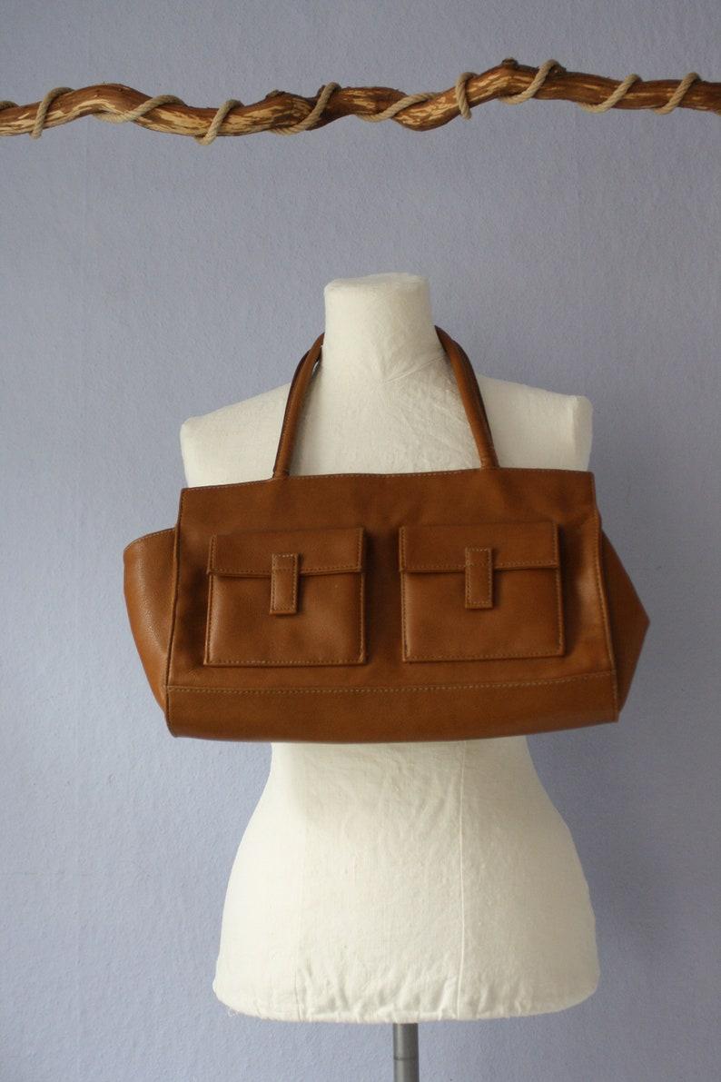 True Vintage Leder Tasche Retro