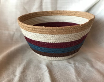 FabricPottery coiled bowl