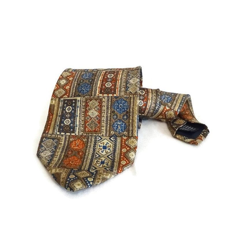 Trussardi Paisley Made In Italy 100% Seide Made In Italy Krawatten & Fliegen