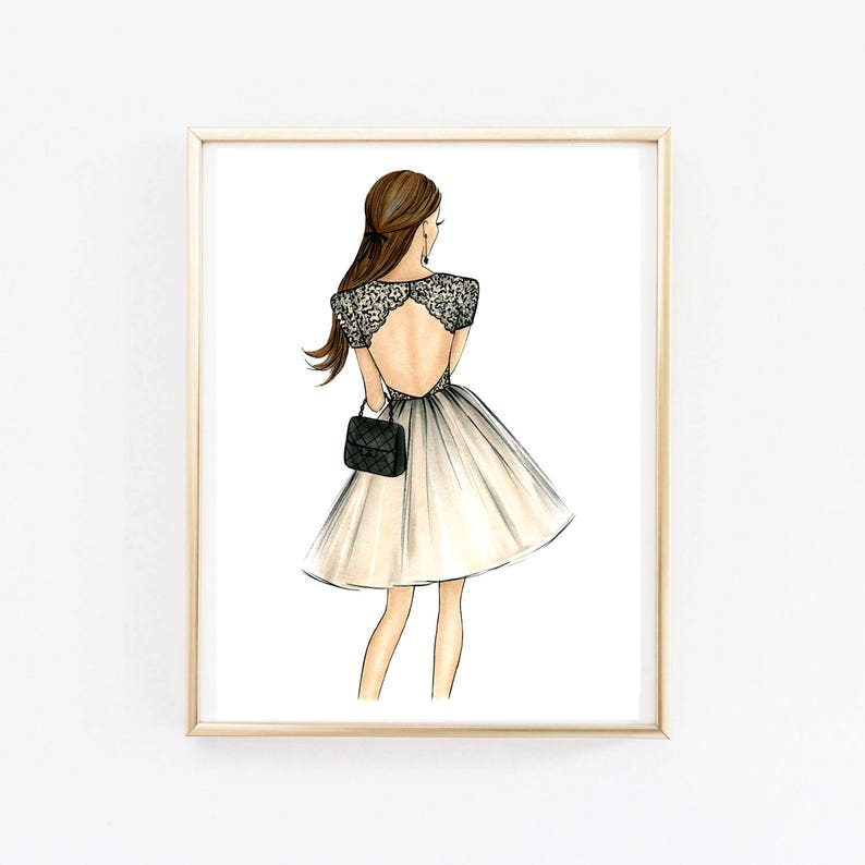 picture about Printable Fashion identify Electronic design artwork Print design Printable design and style artwork Printable artwork Printable wall artwork Model case in point Gold artwork Type sketch