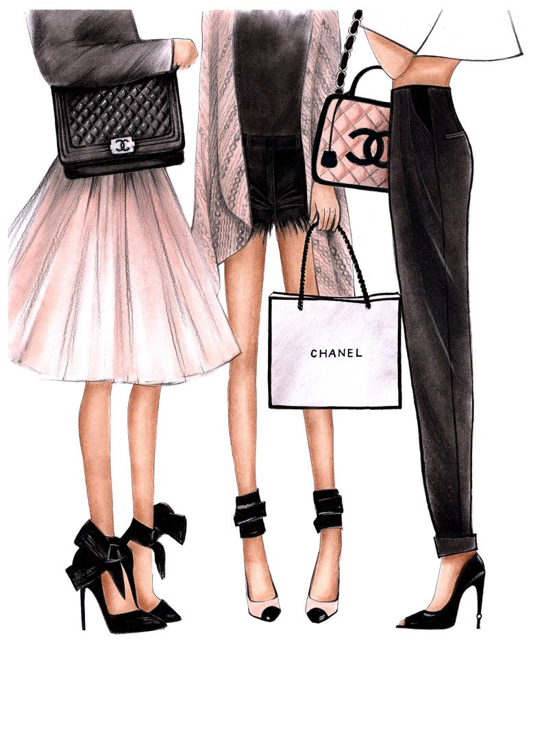 bde97dcd6edc Fashion Illustration Chanel art Chanel print Fashion wall art