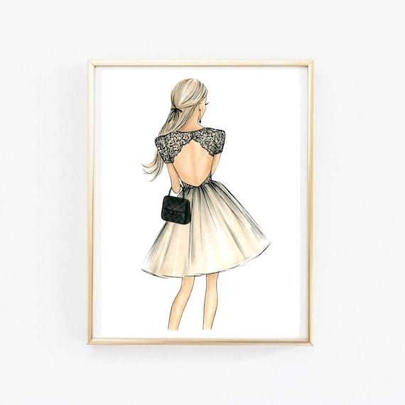 Girls room decor Dorm wall art Girls wall art Fashion wall art | Etsy