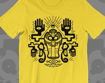 Cofagrigus T-SHIRT 'Golden Tomb' // Yamask // Ghost Type // Egyptian Style // Halloween