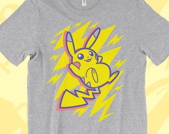 b9cc172e Let's Go Pikachu T-SHIRT // Pokemon Let's GO // Buddy // Electric Type //  Cute // Bright // Colorful // Pokemon Gifts