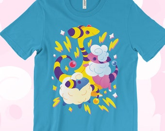 Mareep Flaafy Ampharos T-SHIRT 'Electric Sheep' // Johto // Gen2 // Electric Type // Cute // Bright // Colorful //