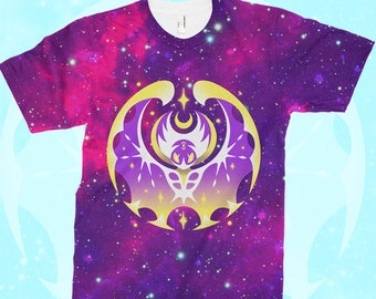 4b5dd34d8 Pokemon Moon T-SHIRT Lunala // All-Over Pattern Print // Pokemon Sun Moon  // Legendary Pokemon // Alola Gen7 // Pokemon Gifts