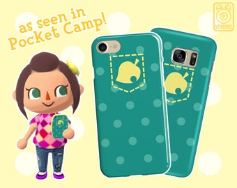 c53fb57a88 Pocket Camp PHONE CASE // iPhone & Samsung Galaxy Devices // Animal  Crossing Mobile Game // Leaf Polka Dot