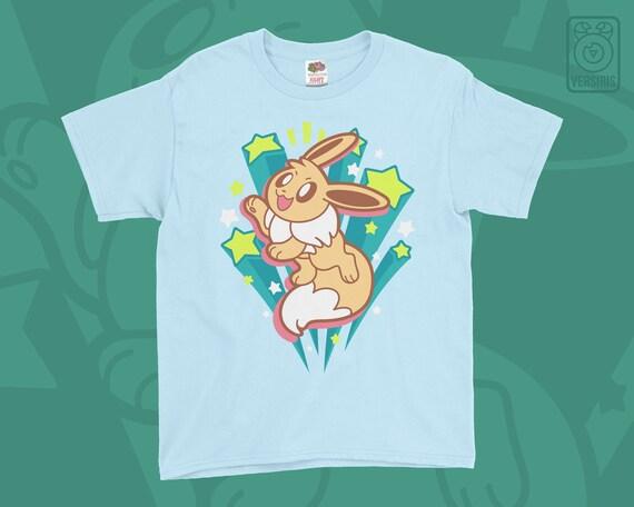 Pokemon Eevee Rétro Japonais KID/'S T-Shirt